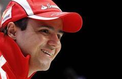 <p>Felipe Massa durante coletiva de imprensa em Madonna di Campiglio, na Itália. Massa está de olho na balança depois da frustrante temporada de 2010, pois considera que seu físico franzino pode ser seu grande trunfo neste ano.13/01/2011 REUTERS/Alessandro Bianchi</p>