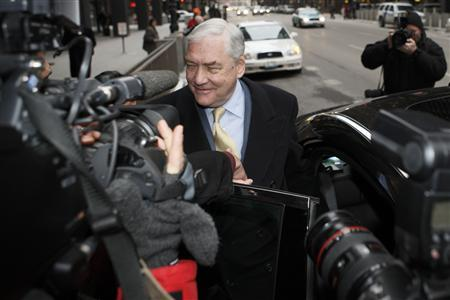 Conrad Black leaves the Federal Courthouse in Chicago after a status hearing, January 13, 2011. REUTERS/John Gress