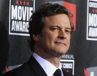"""<p>Imagen de archivo del actor Colin Firth, protagonista de """"The King's Speech"""", en un evento en Hollywood. ene 14 2011. """"The King's Speech"""", la historia de la lucha del rey Jorge VI en tiempos de guerra para superar sus problemas de habla, mantuvo la cabecera de la taquilla británica por segunda semana, recibiendo aclamaciones en ambos extremos del Atlántico. REUTERS/Phil McCarten/Archivo</p>"""