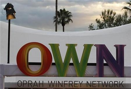 The logo of the OWN: Oprah Winfrey Network is pictured at a cocktail reception for the Television Critics Association 2011 Winter press tour in Pasadena, California, January 6, 2011. REUTERS/Fred Prouser
