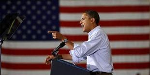 <p>President Barack Obama speaks at a campaign rally in Minneapolis, Minnesota October 23, 2010. Obama is on a four-day, five-state swing to support Democrats in the upcoming election. REUTERS/Kevin Lamarque</p>