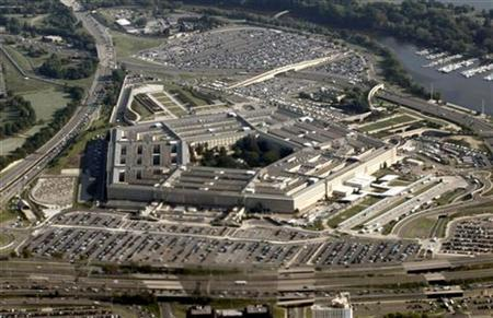 An aerial view of the Pentagon in Washington August 31, 2010. REUTERS/Jason Reed