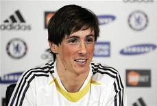 <p>O atacante espanhol Fernando Torres fez sete gols em oito partidas contra o Chelsea. 04/02/2011. REUTERS/Stringer</p>