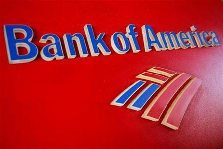A Bank of America sign is displayed outside a branch in Tucson, Arizona January 21, 2011. REUTERS/Joshua Lott