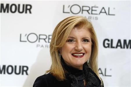 The Huffington Post's co-founder Ariana Huffington in New York, November 8, 2010. REUTERS/Lucas Jackson