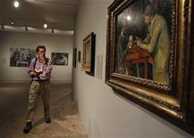 <p>An oil on canvas painting by artist Paul Cezanne titled 'The Card Players' from the 1892 to 1896 time period is seen during a press preview for Cezanne's Card Players exhibit at The Metropolitan Museum of Art in New York, February 7, 2011. REUTERS/Shannon Stapleton</p>
