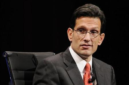 Representative Eric Cantor (R-VA) delivers remarks during the 2010 meeting of the Wall Street Journal CEO Council in Washington in this November 16, 2010 file photo. REUTERS/Jonathan Ernst
