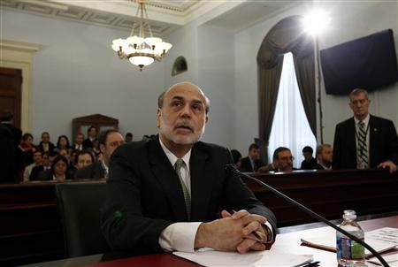 Chairman of the Federal Reserve Ben Bernanke testifies on the state of the U.S. economy before the House Budget Committee on Capitol Hill, February 9, 2011. REUTERS/Kevin Lamarque