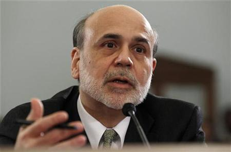 Chairman of the Federal Reserve Ben Bernanke testifies on the state of the U.S. economy before the House Budget Committee on Capitol Hill in Washington February 9, 2011. REUTERS/Kevin Lamarque