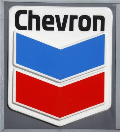 The Chevron corporate logo is displayed at a Washington D.C. gas station January 11, 2010. REUTERS/Jason Reed/Files