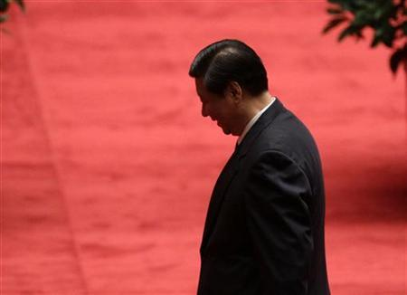 China's Vice President Xi Jinping leaves after an event honouring the people involved in the hosting of the Shanghai World Expo, which ended in October, at the Great Hall of the People in Beijing December 27, 2010. REUTERS/Jason Lee