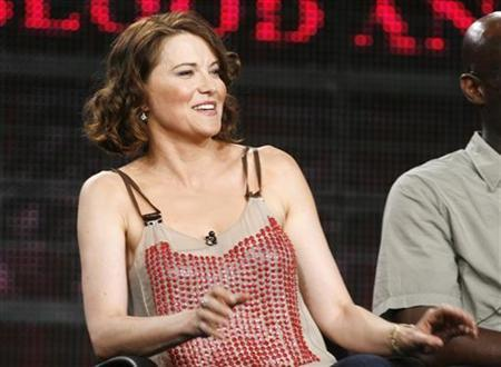 Actress Lucy Lawless discusses her role as Lucretia in the STARZ channel series ''Spartacus: Blood and Sand'' at the Television Critics Association Cable summer press tour in Pasadena, July 29, 2009. REUTERS/Fred Prouser