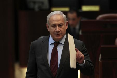 Israel's Prime Minister Benjamin Netanyahu arrives at a session of the Knesset, the Israeli parliament, in Jerusalem February 23, 2011. REUTERS/Baz Ratner