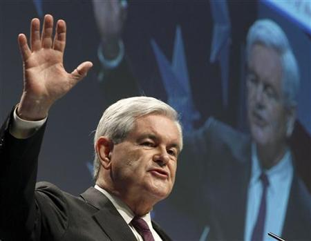 Former Speaker of the House Newt Gingrich addresses the 38th annual Conservative Political Action Conference (CPAC) meeting at the Marriott Wardman Park Hotel in Washington, February 10, 2011. REUTERS/Larry Downing