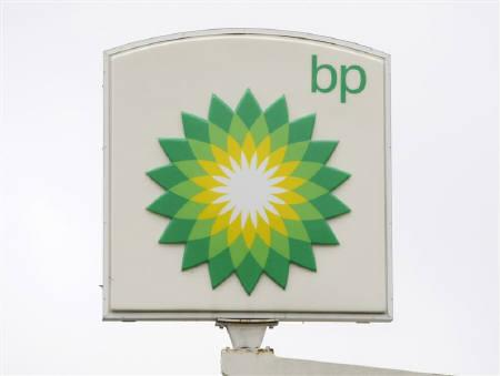 The BP brand logo is seen at a Washington DC service station October 27, 2009. REUTERS/Jason Reed/Files