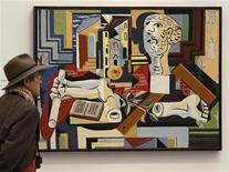 <p>Imagen de archivo de una obra de Picasso exhibida en el Kunsthaus Zurich en Suiza. oct 14 2010. Los museos Tate mostrarán el próximo año obras de los gigantes de los siglos XIX y XX Pablo Picasso, Claude Monet y Edvard Munch así como de artistas contemporáneos como Damien Hirst y Cy Twombly cuando Gran Bretaña sea sede de los Juegos Olímpicos. REUTERS/Arnd Wiegmann</p>
