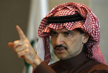 Saudi Prince Alwaleed bin Talal speaks during a news conference in Riyadh March 9, 2011. REUTERS/Fahad Shadeed