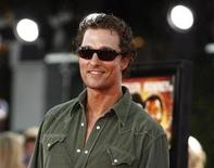 "<p>Cast member Matthew McConaughey poses at the premiere of ""Tropic Thunder"" at the Mann's Village theatre in Westwood, California August 11, 2008. REUTERS/Mario Anzuoni</p>"