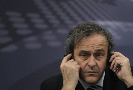 UEFA President Michel Platini attends a news conference after the UEFA Executive Committee meeting in Prague December 10, 2010. REUTERS/David W Cerny/Files