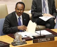 <p>Somalia's Prime Minister Mohamed Abdullahi Mohamed during consultations on the situation in Somalia at the Security Council Chambers at the United Nations headquarters in New York, March 10, 2011. REUTERS/Shannon Stapleton</p>