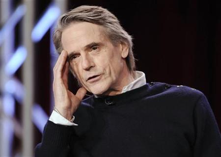 Actor Jeremy Irons takes part in a panel discussion for the show ''The Borgias'' at the CBS and Showtime portion of the 2011 Winter Press Tour for the Television Critics Association in Pasadena, California, January 14, 2011. REUTERS/Gus Ruelas