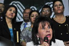 <p>Guatemala's first lady Sandra Torres holds a news conference in Guatemala City March 24, 2011. REUTERS/Stringer</p>