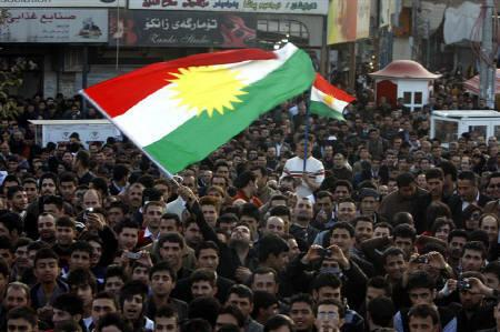 Iraqi Kurds protesters take part in a demonstration in Sulaimaniya, 260 km (160 miles) northeast of Baghdad, March 11, 2011. REUTERS/Stringer/Files