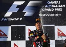 <p>Sebastian Vettel iniciou da melhora maneira a defesa de seu título de Fórmula 1 neste domingo, liderando da pole à vitória o Grande Prêmio da Austrália, que inaugurou a temporada. REUTERS/Daniel Munoz</p>