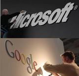 <p>Microsoft a déposé une plainte contre Google devant la Commission européenne, accusant le géant d'internet d'entraver systématiquement la concurrence dans la recherche sur internet. C'est la première fois que le numéro un mondial des logiciels dépose une plainte sur des questions de concurrence. /Photos d'archives/REUTERS</p>