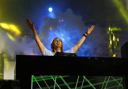 DJ David Guetta of France performs during the ''Isle of MTV'' concert in Floriana, outside Valletta, June 30, 2010. REUTERS/Darrin Zammit Lupi