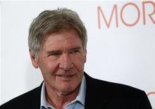 """<p>Harrison Ford divulga seu filme """"Uma Manhã Gloriosa"""" em Madri, na Espanha. 13/01/2011 REUTERS/Andrea Comas</p>"""