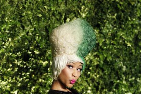 Singer Nicki Minaj arrives for the Christie's Green Auction: Bid To Save The Earth event in New York March 29, 2011. REUTERS/Lucas Jackson