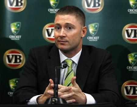 Australia's newly named test and one-day cricket captain, Michael Clarke, pauses during a news conference at the Sydney Cricket Ground March 30, 2011.  REUTERS/Tim Wimborne/Files