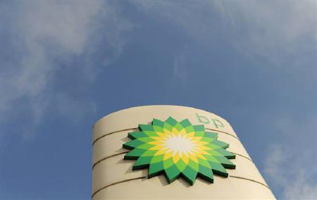 A logo on a British Petroleum petrol station is seen in London April 30, 2010. REUTERS/Toby Melville/Files