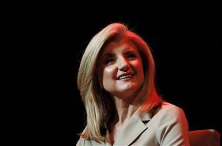 Arianna Huffington, co-founder of the Huffington Post Media Group takes a question during a Women and Media 3.0 panel discussion at the Women in the World conference in New York March 12, 2011. REUTERS/Jessica Rinaldi