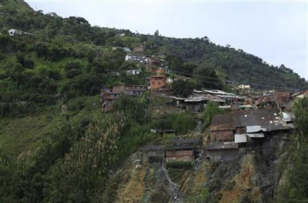 A general view of the mine in Marmato province, Caldas, October 5, 2010. REUTERS/John Vizcaino )
