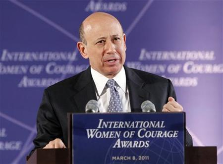 Lloyd Blankfein, Chairman and CEO of Goldman Sachs, addresses the International Women of Courage Awards Ceremony at the State Department in Washington March 8, 2011. Tuesday marks the 100th anniversary of International Women's Day. REUTERS/Kevin Lamarque
