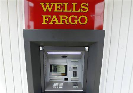 A Wells Fargo ATM bank machine is shown here in Solana Beach, California April 19, 2011. REUTERS/Mike Blake