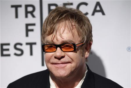 Sir Elton John attends opening night premiere of ''The Union'' during the 10th annual Tribeca Film Festival in New York April 20, 2011. REUTERS/Lucas Jackson