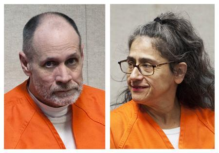 Phillip and Nancy Garrido are shown in this combination of April 7, 2011 file photos during a hearing in their case Placerville, California. REUTERS/Max Whittaker/Files