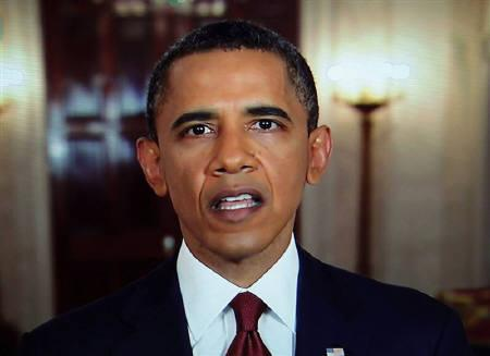 U.S. President Barack Obama announces the death of Osama bin Laden during an address to the nation from the White House in Washington, in this still image taken from video May 1, 2011. REUTERS/Pool/Files