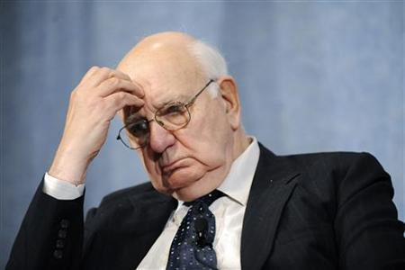 Former Federal Reserve Chairman Paul Volcker listens to comments during a panel discussion in Washington in this October 11, 2010 file photo. REUTERS/Jonathan Ernst