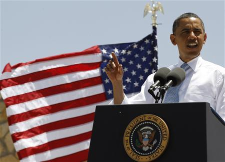President Barack Obama delivers remarks on immigration reform at Chamizal National Memorial Park in El Paso, Texas, May 10, 2011. REUTERS/Jim Young