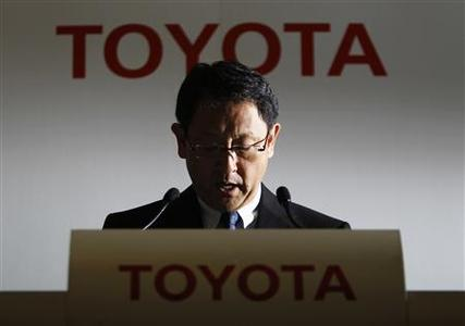 Toyota Motor Corp President Akio Toyoda speaks during a news conference in Tokyo May 11, 2011. REUTERS/Toru Hanai