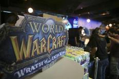 """<p>Le jeu en ligne """"World of Warcraft"""" de Blizzard Entertainment, filiale de Vivendi. Le premier groupe européen de médias et de divertissement dépasse les attentes du marché au premier trimestre, les ventes plus fortes que prévu de jeux vidéos ayant compensé l'effritement attendu de la marge de l'opérateur télécoms SFR. /Photo d'archives/REUTERS/Alywin Chew</p>"""