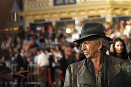 Cast member Keith Richards attends the premiere of ''Pirates of the Caribbean: On Stranger Tides'' at Disneyland in Anaheim, California May 7, 2011. The movie opens in the U.S. on May 20. REUTERS/Mario Anzuoni