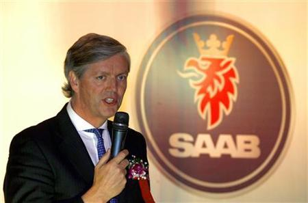 Victor Muller, Spyker Chief Executive and Chairman of Saab Automobile, speaks before a signing ceremony in Beijing May 3, 2011. REUTERS/David Gray