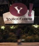 <p>Foto de archivo de las oficinas de Yahoo! en Santa Monica, EEUU, abr 18 2011. Yahoo y Alibaba tendrán dificultades para resolver la disputa que mantienen sobre la transferencia de uno de los activos más importantes de la empresa china, lo que ha elevado las dudas sobre cuánto durará su atormentado matrimonio. REUTERS/Mario Anzuoni</p>
