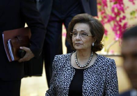 File photo of Egypt's former first lady, Suzanne Mubarak, attending the Stop Human Trafficking Now forum in Luxor, southern Egypt December 11, 2010. REUTERS/ Goran Tomasevic/Files