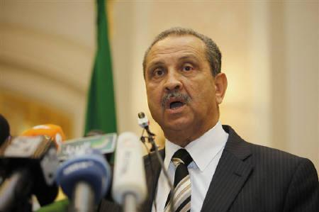 Shokri Ghanem, chairman of Libya's National Oil Corporation (NOC), holds a news conference in Tripoli March 19, 2011. REUTERS/Ismail Zitouny